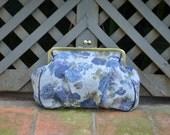 Floral clutch frame purse
