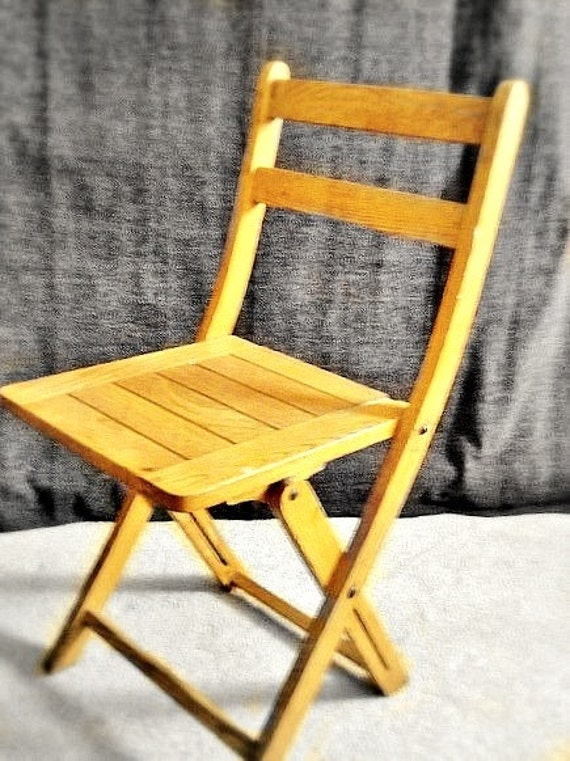 vintage wood folding slat chair furniture