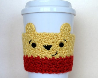 Crocheted Winnie the Pooh Coffee Cup Cozy