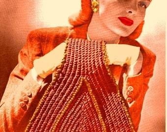 A BEST Vintage 1944 Beaded Wrist Bag 1063 PDF Digital Crochet Pattern