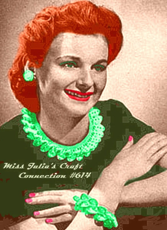 A BEST Vintage 1940s Chic Jewelry Accessory 3 Piece Set 614 PDF Digital Crochet Pattern