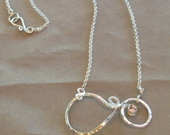 Signature Swirl February Stone Necklace, Handcrafted Jewelry