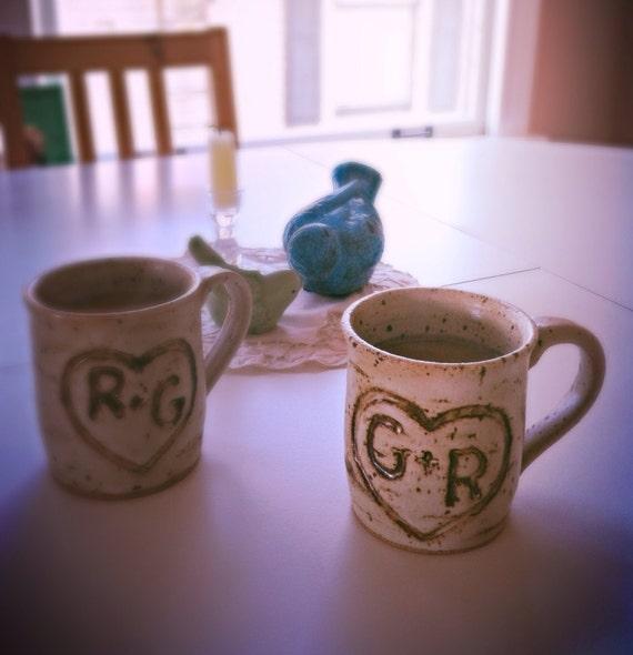 Personalized Coffee Mugs Wedding Gift : ... similar to Hand carved personalized coffee mugs wedding gift on Etsy