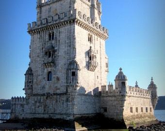Lisbon, Portugal Photo. Belem Tower Photo. St Vincent. Landscape Photography. Travel Photography Print. Home Decor. Wall Art. Tagus River