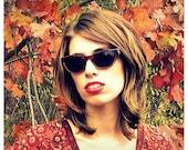 Cat Eye Sunglasses, Vintage Amber Cateyes, Autumn Colors, Unisex Sunglasses, Tortoise Shell Sunnies