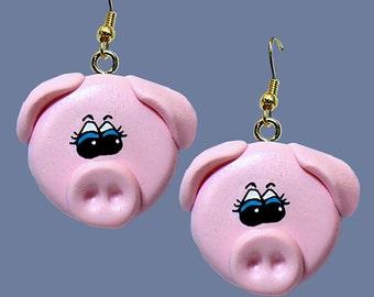 Pig Face Earrings