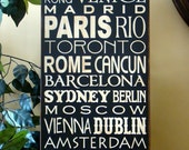 Custom destination sign for Aidan