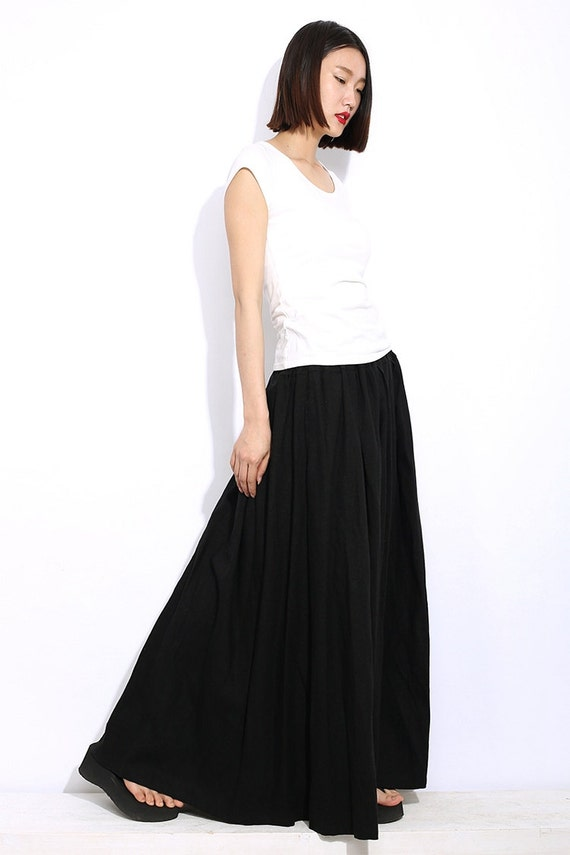 black linen skirt maxi casual everyday comfortable
