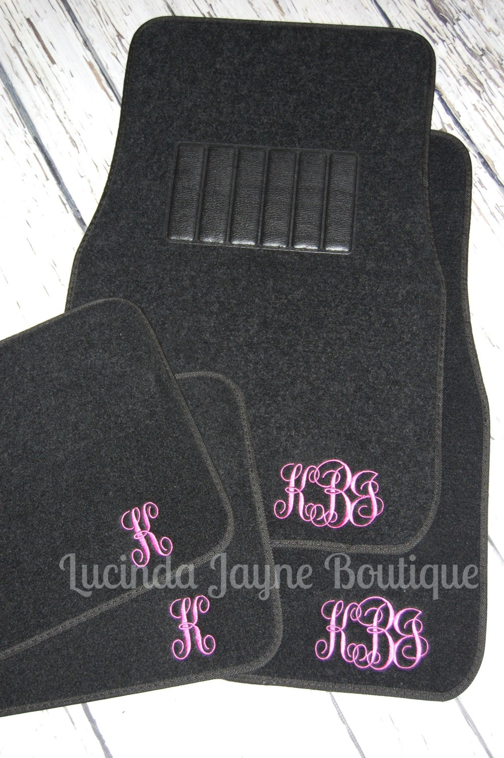 Floor mats dream cars - Monogrammed Black Car Floor Mats