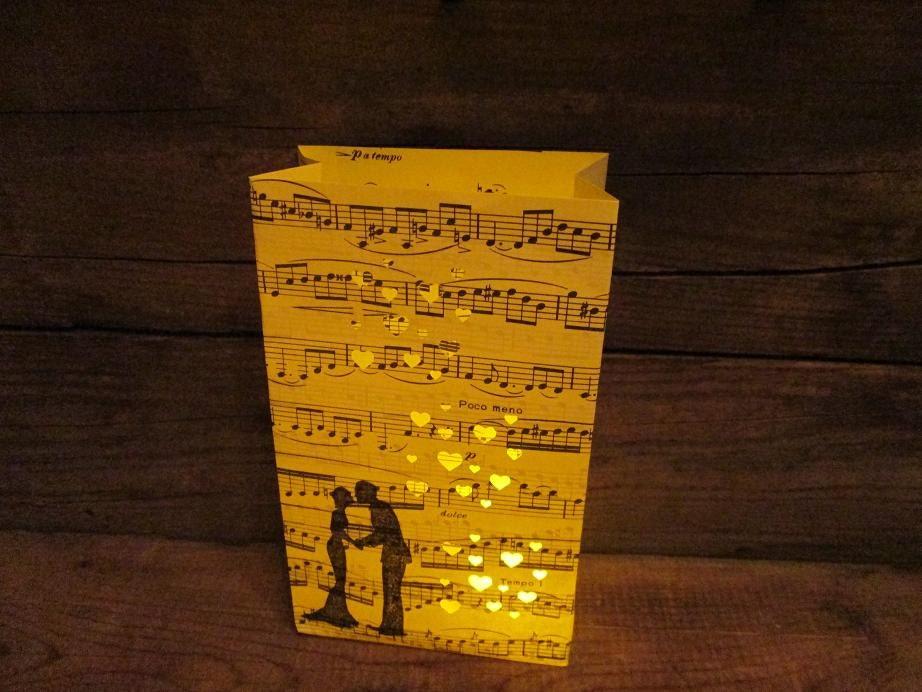 5 Luminary Bags Bride Groom Paper Lanterns Wedding