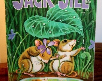 Vintage JACK and JILL ~Award Winning Children's Magazine~ Apr.1972~ Vol.34 # 4~ Very Good Condition