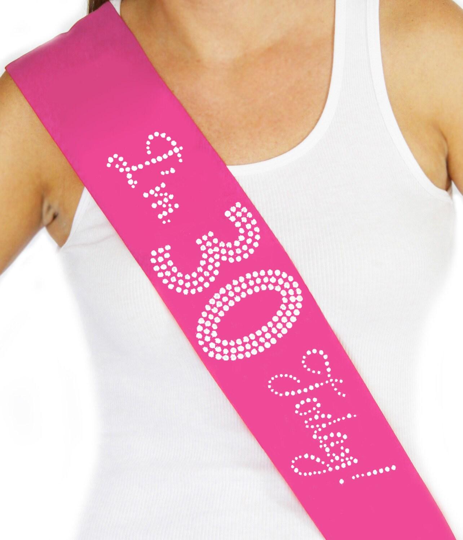 Pink Sash Birthday Sash