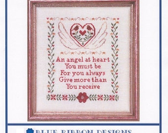 Heart Has Wings (BRD-013) Cross Stitch Design