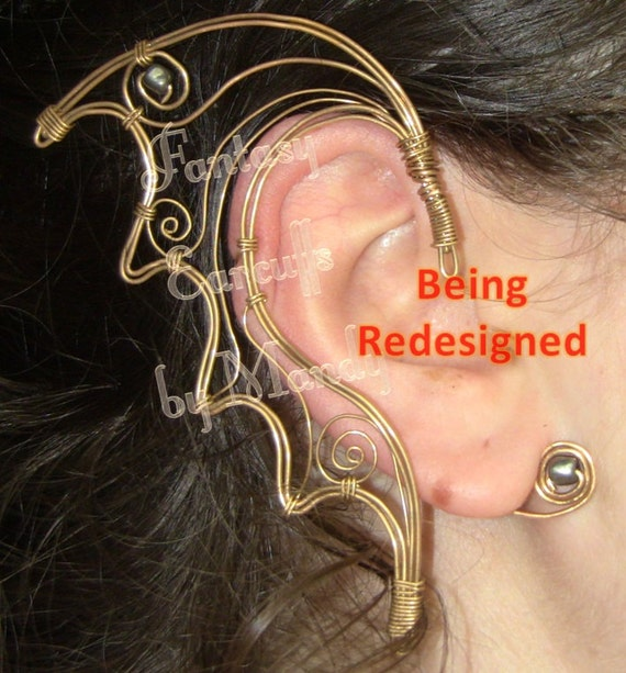 Night Childe Earcuffs (in Gold-Tone wire) ***BEING REDESIGNED***
