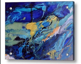 Abstract Print on Plexiglas Giclee Print of my Original Contemporary Abstract Resin Art Painting