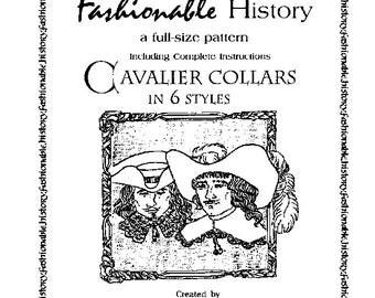 Six Cavalier Collar Patterns by Queta's Closet No.109