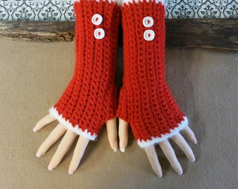 Crochet Fingerless Gloves, Arm Warmers, Red Gloves, Wool Accessories, Burlesque Winter Gloves, Nchanted Gifts, Australia