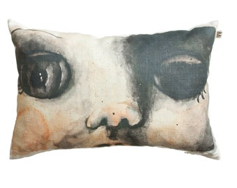 Decorative pillow case, doll face scatter cushion cover