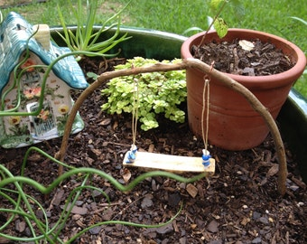 Miniature Fairy Garden Swing