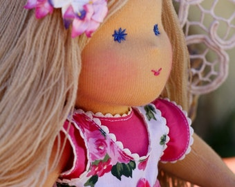 "Waldorf doll - ""Viktoria"" -14-15 inches, custom dolls for children from 5 years old, daughter of a gift"
