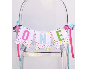 Sprinkles First or Second Birthday Highchair Banner