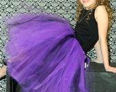 Purple and black full lenght tutu skirt. Long tutu