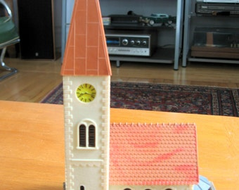 Vintage 1960s HO Faller Church Made in Germany