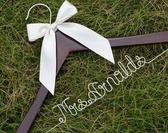 Promotion, Single Line Bride Name Hanger, Personalized Wedding Hanger, Personalized Custom Bridal Hanger, Personalized Brides Hanger