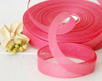 "Blossom Cotton Ribbon - 3 or 6 Yards of 100% Cotton Ribbon - 5/8"" Wide  - Pink Shade Cotton Ribbon -Buy More and Save - Eco Friendly Ribbons"