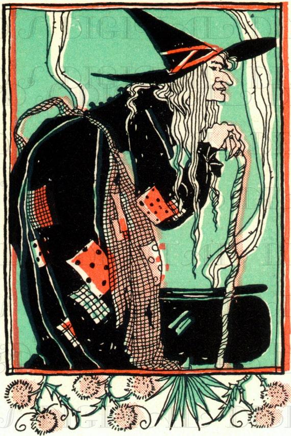 Wonderful WITCH From 1920s Vintage Child's Magazine