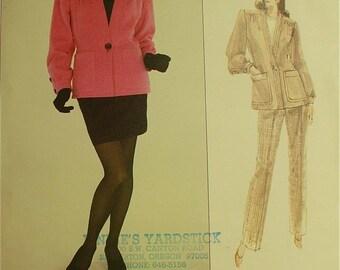 """Jacket, Skirt & Pants by Yves Saint Laurent - 1980's - Vogue Paris Original Pattern 2150  Uncut   Sizes 12-14-16  Bust 34-36-38"""""""