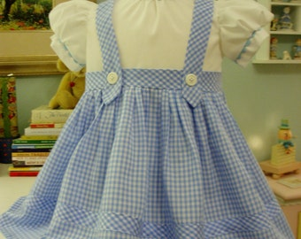 Dorothy Costume, I will make from 12 month - size 5, this is a Custom Order