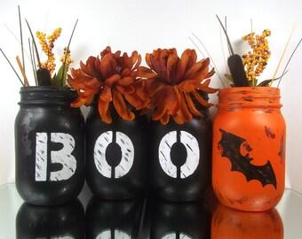 Halloween Decoration, Halloween Table Decor, Halloween Decor, Halloween Mason Jars, Autumn Decor, Cute Home Decor, Tablecenterpiece