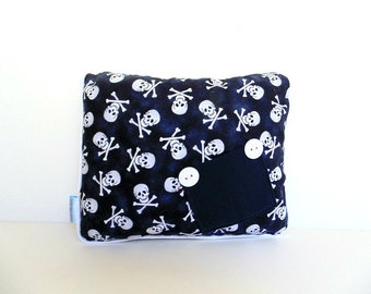 Scull Pillow, Skull and CrossbonesTooth Fairy Pillow, Crossbones Skull Pillow,