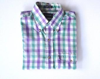 SALE> GANT 'Foxhunt Plaid' Short Sleeve Shirt. Sz S.