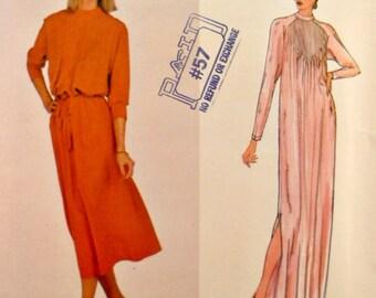 70s Aline Loose Pullover Evening Dress Sewing Pattern Size 16 Bust 38 Chloe Paris Original Raglan Sleeves Vintage Vogue 2162 Pattern Uncut