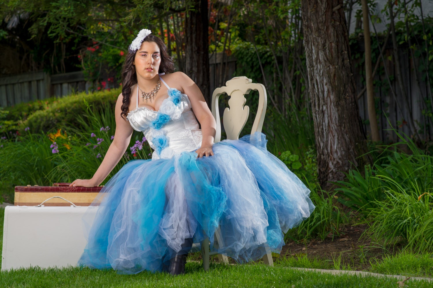 Adult tutu dress Adult blue princess dress corset and by TutuHot
