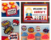 Super Girl Birthday Party - DIY PRINTABLE Personalized Package FULL Collection - H6a