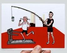 Funny Birthday Card - Birthday Card For Him - Boyfriend Birthday Card - Beer Exercise