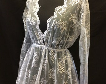 Silver grey tulle lace over top