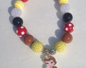 Baby Princess Belle Chunky Necklace