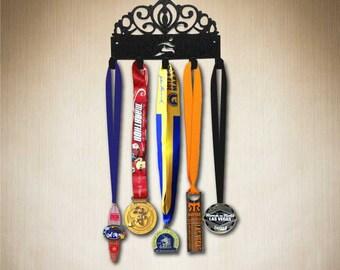 Disney Medal Holder - Princess Tiara Medal Hanger with runner,  Medal holder,Medal Display, Medal Rack, Medal hooks. www.sporthooks.com