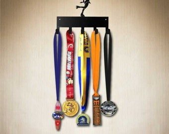 Medal Holder - Figure Skater Medal Hanger, Medal Display 5 hook ( holds 5-15+ medals). Larger 10 hook size available.