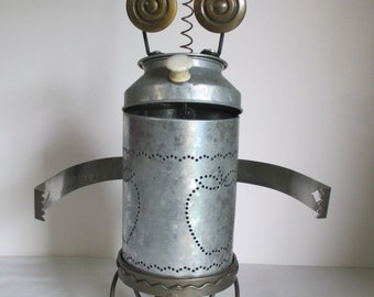 FROGGER- Found object robot sculpture~assemblage