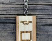Personalized Bamboo 4 GB USB Wood Gamer Flash Drive Keychain - Handheld