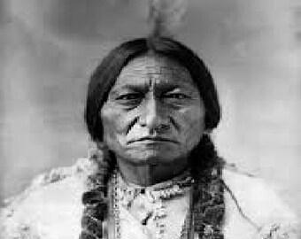 Sitting Bull Inspirational Vintage Poster