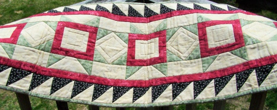 CLEARANCE SALE !!! HANDMADE Five Star Quilted Table Runner, Primitive Home Decor spring, qqq