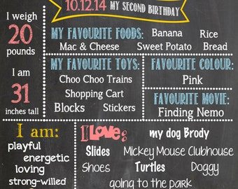 Classic Winnie the Pooh Printable Birthday Chalkboard