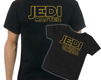 Matching Jedi Master Father/Son t-shirt