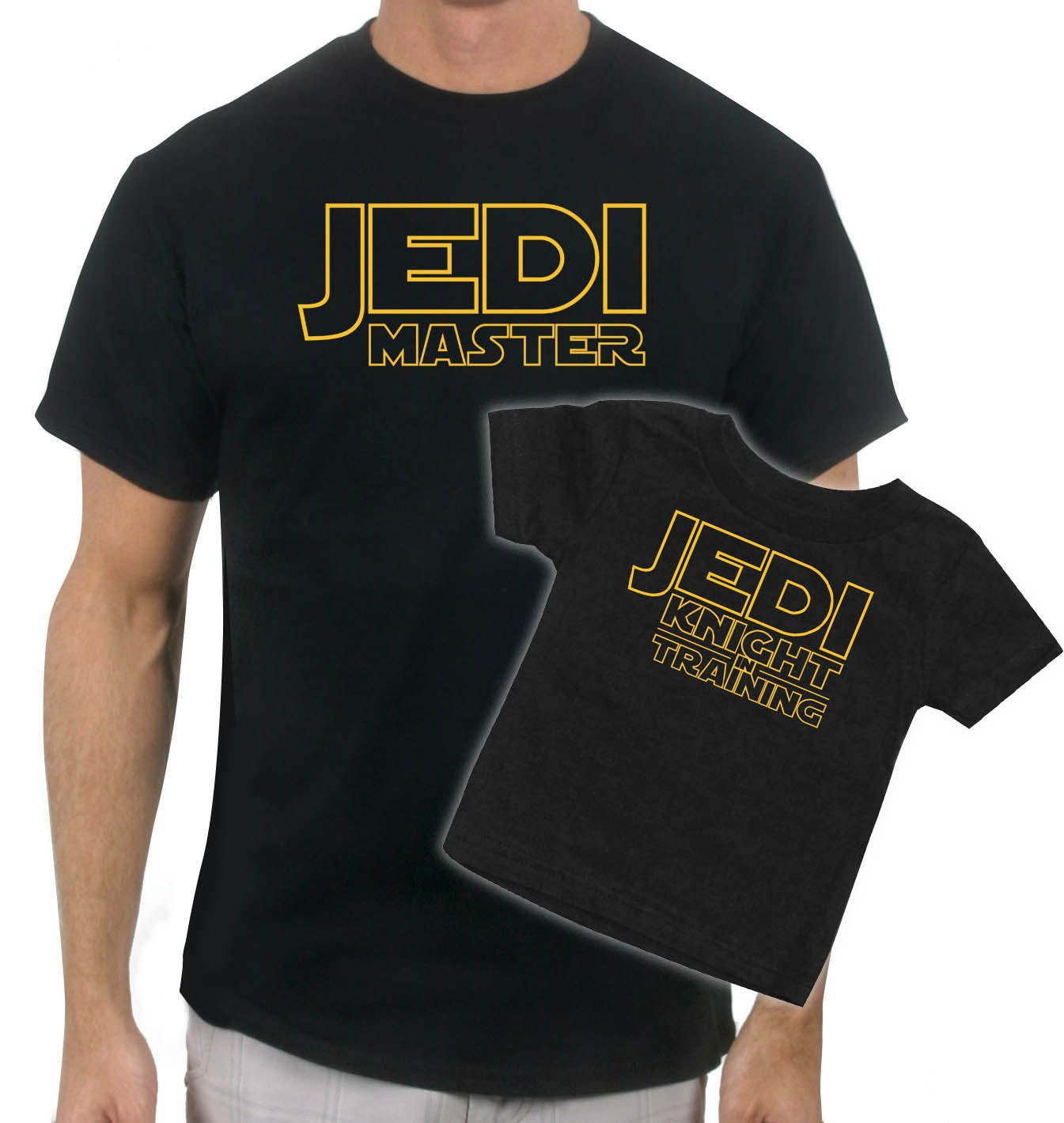 Matching jedi master father son t shirt T shirts for dad